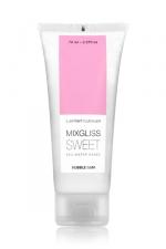 Lubrifiant Mixgliss Sweet Parfumé au Bubble Gum 70 ml - Gel anal parfumé au malabar : Mixgliss Sweet est fabriqué en France et est compatible avec les capotes et les sextoys.