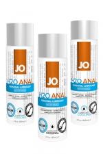 Lubrifiant Jo H2O Anal 60 ml : Lubrifiant anal à base d'eau de 60 ml, le gel lubrifiant Jo H2O anal est compatible avec les sextoys gays et les préservatifs. Sa texture épaisse à la viscosité élevé permet une sodomie profonde. Existe en version chauffante, rafraichissante ou classique.