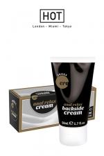 Crème Anale Décontractante et Lubrifiante Ero 50 ml - Backside anal relax cream est une crème anale décontractante et lubrifiante pour du sexe anal doux, relax et jouissif. Elle détend l'anus et permet une sodomie glissante. Agit en 2-3 minutes. Apaise la douleur.