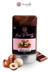 Gel Lubrifiant Comestible Gout Chocolat Noisette Secret Play - Ce délicieux gel lubrifiant comestible gout chocolat noisette comme la célèbre pâte à tartiner est fabriqué en Espagne par Secret Play. Etalez le sur un petit cul, tartinez le sur une belle verge et dégustez le avec gourmandise !