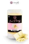 Gel Lubrifiant Comestible Gout Chocolat Blanc Secret Play - Ce délicieux gel lubrifiant comestible aromatisé au chocolat blanc est fabriqué en Espagne par Secret Play. Accompagnez le d'un anus à lécher, d'une verge en érection ou d'une zone érogène à exciter. Se déguste à toute heure !
