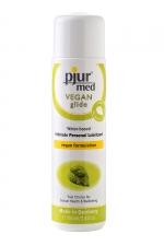 Lubrifiant Pjur Med Vegan Glide 100 ml - Gel lubrifiant anal vegan à base d'ingrédients végétaux, non testé sur les animaux, sans agent de conservation. Lubrifiant très glissant qui ne colle pas, ne tâche pas et nourrit les muqueuses anales.