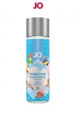 Lubrifiant Aromatisé Comestible Bubble Gum 60 ml System Jo : Gel lubrifiant comestible goût bubble gum 60 ml : à base d'eau, ce gel anal premium s'utilise avec les capotes et les sextoys. Nettoyage facile à l'eau. Fabriqué aux USA par System Jo. Bouteille souple pour dosage facile.