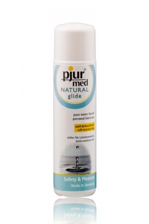 Lubrifiant Pjur Med Natural Glide - Gel lubrifiant intime naturel haute qualité, hydratant et doux, très glissant, à base d'eau. Contenance 100 mL