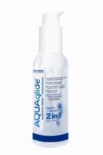 AQUAglide 2 in 1 - 125 ml - Le 2 en 1 : un gel de massage et un lubrifiant tr�s efficace dans un seul flacon pour un maximum de plaisir sur tout le corps.