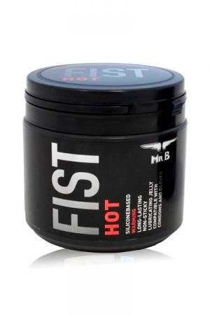 Lubrifiant à Fist Chauffant Mister B FIST Hot 500 ml - 500 ml de graisse chauffante pour le fist par Mister B. A base de silicone, cette gelée ultra glissante est parfaite pour les pénétrations extrêmes, les jeux avec les sextoys géants ou le fist. Elle est compatible avec les préservatifs.