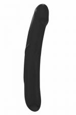 Double Godemichet Dorcel Real Sensation L Noir - Grand gode double noir de 29 x 4,5 cm à double extrémité. Fabriqué en silicone doux, flexible et sans phtalates, sa forme stimule votre prostate. Etanche, il se lave facilement. Signé Dorcel.
