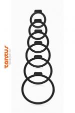 6 Anneaux pour Harnais O Ring par Tantus - Adaptez le sextoy de votre choix à votre harnais équipé d'une fixation O Ring et variez les plaisirs ! 6 anneaux de tailles différentes pour toujours avoir le bon.