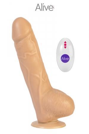 Vibromasseur réaliste Marco + télécommande - Vibro très réaliste en silicone, 19 x 4 cm, vibrant et rotatif, avec télécommande sans fil, idéal pour des sensations fortes!