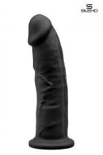 Gode Homme Black Double Densité 22,5 cm : Gros gode black gay réaliste avec ventouse de 22,5 x 5 cm. Corps à mémoire de forme avec double densité. Un puissant sexe noir décalotté conçu en silexpan qui vous offre un plaisir bien au delà d'un gode normal. Il vous pénètre très profondément
