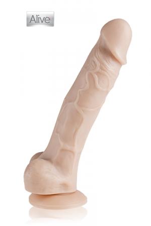 Godemichet Ventouse Réaliste en Future Skin - Gode réaliste au corps veiné fabriqué en Future Skin, une matière au réalisme extraordinaire, on dirait de la peau ! Appréciez son contact doux et sa grosse ventouse pour jouer en gardant les mains libres.