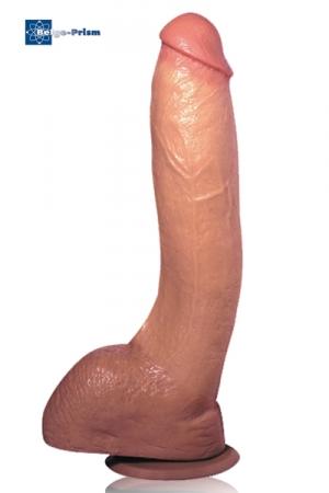 Gode Ventouse Réaliste 25 cm - Une merveille que ce gode charnu en caoutchouc de 25 cm avec ventouses à la forme et au toucher très réalistes. Moulé sur un sexe TTBM en érection il se fixe sur une surface plane et vous emmène très haut dans l'orgasme.