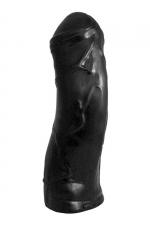 Enorme Gode 37 x 10 cm Domestic Partner Enigma Black - Gros gode de 37 x 10 cm le Domestic Partner Enigma Black pèse 3,65 kg. C'est le plus gros de la gamme ! Fabriqué en Belgique sa taille est celle d'un poing et d'un avant bras lors d'un fist ! Un vrai défi !