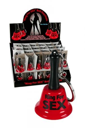 Porte clés cloche  - Clochette  sonnez pour baiser , simplement pour rire ou pour demander à votre  domestique d'honorer une envie pressante.