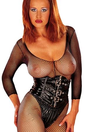 Serre Taille en Vinyle Souple Honour Waspie Belt - Serre taille ou corset en vinyle souple fabriqué par Honour. Il se serre grâce à ses 3 boucles et à un zip. Il vous procure une taille de guêpe et se marie parfaitement avec vos vêtements en vinyle.