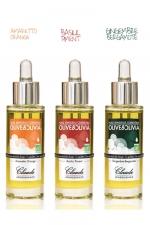 Coffret 3 Huiles sensuelles Olive&Olivia - Coffret de 3 Huiles  sensuelles et gourmandes, 3 saveurs: Amaretto-Orange, Gingembre-Bergamote & Basilic-Piment.