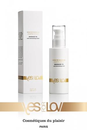 Huile de Massage Enivrante (100ML) - Une huile de massage  enivrante  pour découvrir le corps de l'autre et mettre en éveil tous vos sens, par YESforLOV.