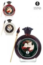 Peinture Gay Corporelle Comestible Shunga : Peinture corporelle gay comestible au chocolat, à la fraise ou à la vanille chocolatée, pour peindre et lécher le corps de votre partenaire. Fabriqué par Shunga à base d'ingrédients haut de gamme