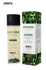 Huile massage BIO Aventurine Avocat - Exsens : huile de massage anti stress certifiée Bio à l'Aventurine et à l'huile d'Avocat, par Exsens.