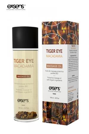 Huile de Massage Bio à Oeil de Tigre et au Macadamia Exsens