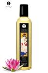 Huile de Massage Homme Erotique Shunga Coeur de Lotus - Huile de massage érotique pour hommes parfumée au coeur de lotus produite par Shunga. Elle sert pour les massages mais aussi pour exciter votre partenaire via des moments érotiques ou sensuels.