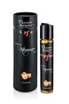 Huile de Massage Comestible Plaisirs Secrets Caramel - Huile de massage comestible française au bon goût de caramel. Très gourmande elle est fabriquée par Plaisirs Secrets et permet un massage érotique ou décontractant. Sa texture est agréable, bonne pour un massage parfait.