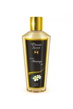 Huile de Massage Sèche Monoï : Huile de massage sèche d'origine végétale au monoï exotique. Fabriquée en France, cette huile sans sensation de gras adoucit et hydrate la peau. Partez pour un massage au long cours, apaisant ou excitant !