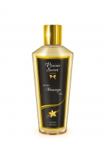 Huile de Massage Sèche Vanille - Huile de massage sèche d'origine végétale à la vanille des îles. Fabriquée en France, cette huile sans sensation de gras adoucit et hydrate la peau. Elle pénètre vite pour un massage apaisant ou qui vous rend tout raide !