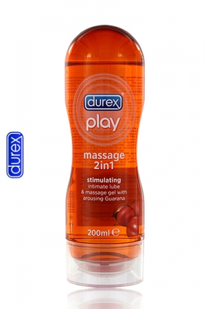 Durex Play Massage Stimulating : gel de massage aphrodisiaque au Guarana - Voici l'huile gel de massage Durex aphrodisiaque avec du Guarana !