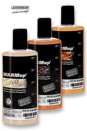 Warm Up - Candy taste - Huile de massage chauffante parfumée aux arômes de friandises, pour embaumer votre partenaire de délices sensuels.