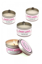 Bougie de massage gourmande - Easy Love - Bougie de massage sensuelle parfum�e au choix au Coco, au chocolat,� la fraise ou � la vanille.