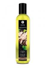 Huile Bio Aromatisée 250 ml pour Massage Erotique Shunga Organica - Huile de massage biologique sensuelle et relaxante pour massage érotique. Aromatisée à l'amande ou au chocolat, cette huile pressée à froid est très érotique. Elle est hypoallergénique, nourrit la peau et la rend soyeuse.