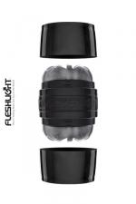 Masturbateur Fleshlight Quickshot Boost - Masturbateur homme Fleshlight au format de poche avec deux extrémités différentes pour fournir des sensations multiples pendant la masturbation. Sa gaine réaliste en super skin a un relief varié pour accroite votre excitation pendant la branlette.