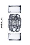 Mini Masturbateur Transparent Fleshlight Quickshot Vantage - Avec ses deux orifices, ce petit masturbateur transparent Fleshlight Quickshot Vantage permet de varier les plaisirs. Sa gaine de masturbation dispose d'un relief varié très excitant.