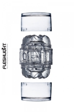 Mini Masturbateur Transparent Fleshlight Quickshot Vantage - Avec ses deux orifices, ce petit masturbateur transparent Fleshlight Quickshot Vantage permet de varier les plaisirs. Sa gaine de masturbation dispose d'un relief varié très excitant.