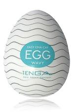 Tenga Egg Wavy : Wavy tenga egg, un masturbateur masculin avec une structure en forme de vague, surfez sur un océan de plaisir !