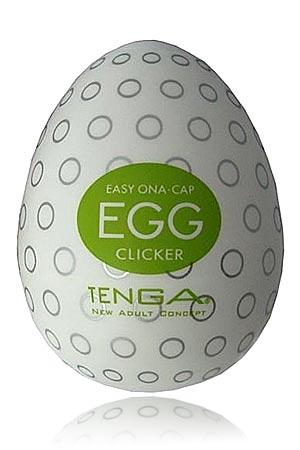 Tenga Egg Clicker - Le sex toy facile d'usage et décontracté. PLacez le sur le bout du pénis, étirez le et faites vous plaisir!