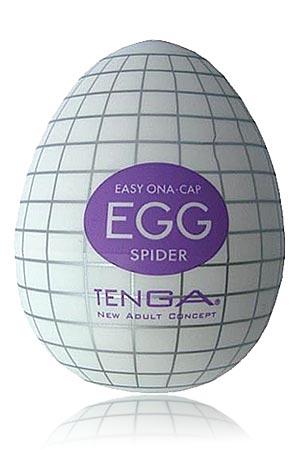Masturbateur Tenga Egg Spider - Le Tenga egg spider est un masturbateur pour homme avec une structure interne en forme de toile d'araignée ! Une fois pris, vous ne pourrez résister à tout ce plaisir !