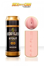 Masturbateur Sex In a Can O'Doyle's Stout - Un masturbateur pour homme en forme de canette de bière qui renferme un anus ultra serré à défoncer à grands coups de bite.
