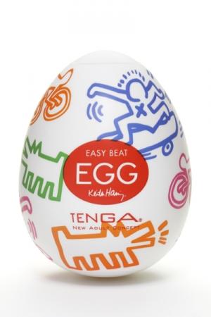 Tenga Egg street - Keith haring - Fruit de la collaboration entre Tenga et Keith Haring, le Tenga Egg Keith Haring Street est un masturbateur pour homme avec des reliefs très excitants et un design unique & à la mode.