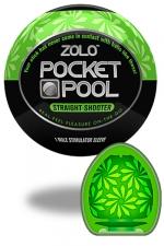 Zolo Straight Shooter - Masturbateur de poche Pocket Pool ™  Straight Shooter de marque Zolo, avec texture  florale.