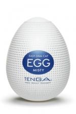 Oeuf Tenga Egg Misty : Tenga Egg Misty est un masturbateur masculin avec une texture recouverte de multiples petites bosses qui excitent votre sexe. Résisterez-vous à ces sensations jouissives ? Ce sextoy extensible s'adapte à toutes les tailles.
