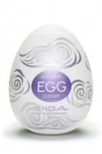 Masturbateur Oeuf Tenga Cloudy - Masturbateur masculin étirable très doux pour faire monter lentement mais inéluctablement votre jouissance : le Tenga Egg Cloudy possède une structure épaisse mais souple pour aspirer votre sexe vers le 7ème ciel.