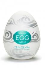 Masturbateur Masculin Tenga Egg Surfer - Une vague de plaisir vous submerbe avec le Tenga Egg Surfer, un masturbateur masculin qui sent bon la plage et le sexe en plein air ! Son relief en forme de vagues fait monter la marée en vous avant qu'un tsunami ne jaillisse !