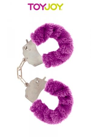 Menottes en Metal et Fourrure Noire Furry Fun - Menottes solides en métal recouverte d'une fourrure colorée pour plus de confort. Parfait pour s'initier au bondage ou pour des jeux de couples coquins.