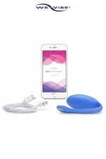 Oeuf Vibrant Bluetooth Connecté Rechargeable We-Vibe Jive - Oeuf vibrant connecté par bluetooth spécial prostate. Contrôle à distance avec une app gratuite. Sextoy rechargeable et étanche avec 6 modes de vibrations et 4 vitesses. Recouvert de silicone médical et fabriqué par We-Vibe.