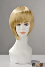 Perruque Courte et Brushée Berangère - Une perruque courte, soigneusement brushée et lisée pour une coupe féminine et très soignée en brune, blonde ou chatain. Transformez totalement votre look avec cette perruque jeune, dynamique.