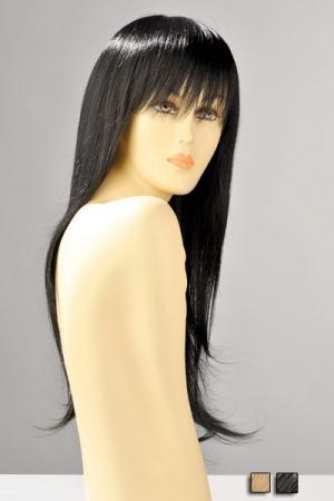Perruque Cheveux Longs Blonds ou Bruns Brenda - Perruque longue, cheveux lisses blonds ou bruns, belle frange pour une allure sensuelle et très réaliste. Cette perruque descend au bas du dos, ses attaches sont réglables, on dirait de vrais cheveux.