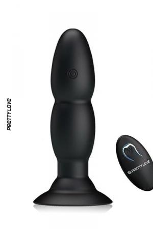 Plug Anal Vibrant Télécommandé avec Ventouse Pretty Love Beaded - Pour acheter un plug, on ne peut rêver mieux que ce plug anal vibrant télécommandé avec ventouse pretty love beaded. 4 modes de rotation et 4 modes de vibration, une télécommande sans fil, faites l'achat de ce plug anal gay vibrant !