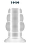 Plug Anal Creux Medium Sono - Plug anal creux translucide de taille moyenne : 5,7 cm de diamètre pour 10,2 cm de long. Parfait pour insérer un sextoy ou verser des liquides dans les fesses d'un passif bien chaud. Ses 3 anneaux de dimensions progressives dilatent votre rondelle.